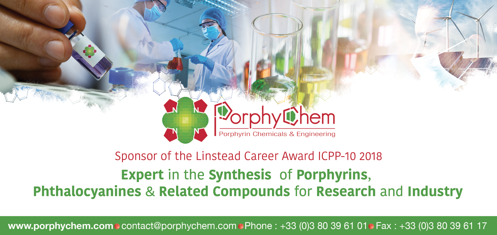 Linstead Career Award in Phthalocyanine Chemistry 2018 (at ICPP-10)